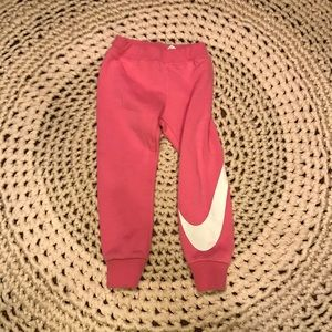 Nike pink girls sweats